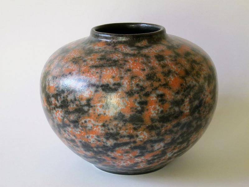 naked raku fired vessel